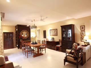 Lotus Apartment Modern dining room by Saloni Narayankar Interiors Modern