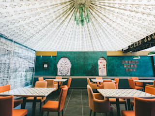 Restaurant, Jubilee Hills Mediterranean style bars & clubs by Saloni Narayankar Interiors Mediterranean
