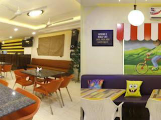 Bumblebee Cafe:   by Saloni Narayankar Interiors