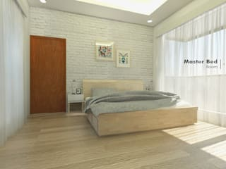 Rustic style bedroom by CASA.ID ARCHITECTS Rustic