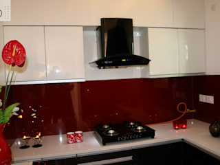 Modular Kitchen With Chimney and Platform Stove:  Kitchen by Enrich Interiors & Decors