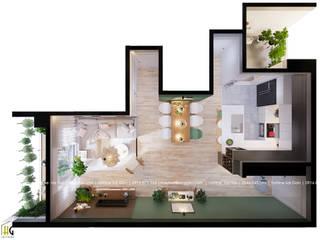 Thiết kế nội thất chung cư 55m cho chị Lan Anh Phòng khách phong cách Bắc Âu bởi Nội Thất Hoàng Gia Bắc Âu