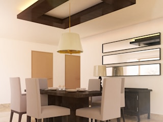 Apartment, Jubilee Hills:  Dining room by Saloni Narayankar Interiors