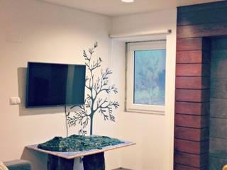 PE. Projectos de Engenharia, LDa Office spaces & stores Beige