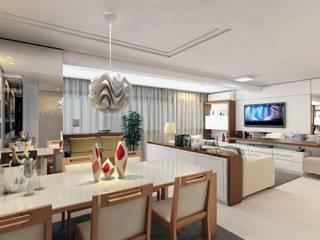 Apto Higienópolis: Salas de estar  por Débora Pagani Arquitetura de Interiores,Moderno