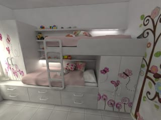 Aida tropeano& Asociados Girls Bedroom Engineered Wood White