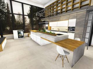 Planung der Küche im Industrie Loft Style : industriale Küche von Ebbecke GmbH - excellent einrichten