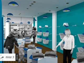 Año 2016 . Local comercial Pepones, ropa para bebés y niños. Galerías y espacios comerciales de estilo moderno de Design 9 - Experiencia Conectiva Moderno