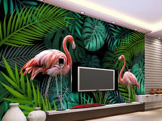 Duvar Kağıdı Özel Tasarımlar Duvarkapla.com Tropikal