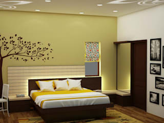 Backlit headboard Asian style bedroom by homify Asian