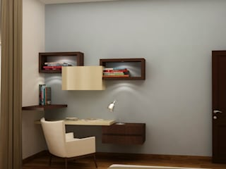 Study ledge with display by homify Asian