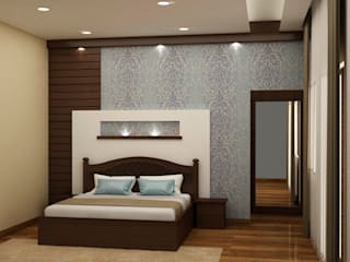Panel and texture paint both:  Bedroom by NVT Quality Build solution