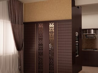 Puja unit and tall unit:  Dining room by NVT Quality Build solution