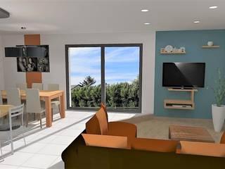 Projet d'aménagement et décoration d'intérieur - Belligné (44): Salon de style  par Atelier Créa' Design