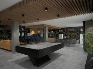 Salão Moderno : Salas de estar  por BENEDITO MARTINS