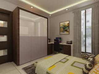 غرفة نوم تنفيذ Regalias India Interiors & Infrastructure