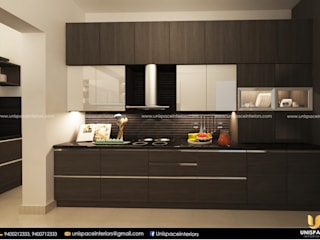 APARTMENT -FLAT INTERIOR -CONTEMPORORY -KITCHEN-MODULAR KITCHENS UNISPACE INTERIOR
