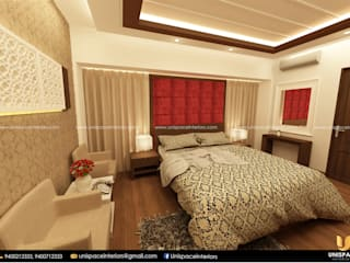CONTEMPORARY INTERIORS BUNGALOW -RESIDENCE-VILLA INTERIOR-BEDROOM UNISPACE INTERIOR