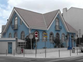Pedro de Almeida Carvalho, Arquitecto, Lda Multi-Family house Stone Blue