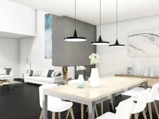Diseño interior Comedor.: Comedores de estilo  por CONSTRUYE IDEAS