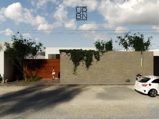 Casa P Kaay: Casas unifamiliares de estilo  por URBN ARQ STUDIO