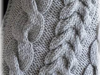 Poduszki robione na drutach: styl , w kategorii  zaprojektowany przez CudaRenki.pl