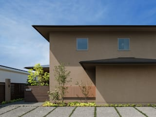 Wooden houses by 柳瀬真澄建築設計工房 Masumi Yanase Architect Office, Modern
