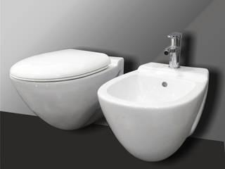 Smile Bath S.A. Baños de estilo moderno Cerámico Blanco
