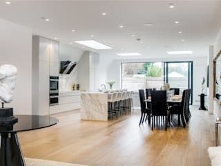 House renovation, house extension Stevenage Road SW6:  Living room by House Renovation London Ltd