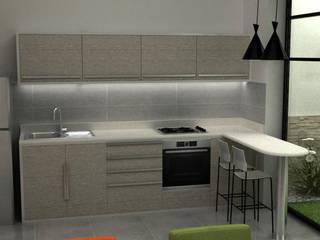 Casa Medianera : Cocinas de estilo  por Elizabeth SJ,