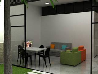 Casa Medianera : Salas de estilo  por Elizabeth SJ,