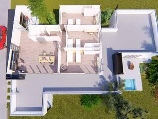 Vivienda en La Joaquina, JK, San Luis Dormitorios modernos: Ideas, imágenes y decoración de Sinapsis Estudio Moderno