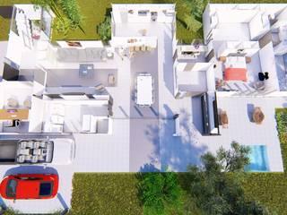 Vivienda en La Joaquina, JK, San Luis Livings modernos: Ideas, imágenes y decoración de Sinapsis Estudio Moderno