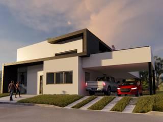 Vivienda en La Joaquina, JK, San Luis Casas modernas: Ideas, imágenes y decoración de Sinapsis Estudio Moderno