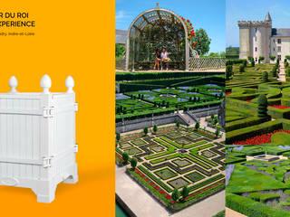 Jardinier du Roi, White Versailles planter box for Chateau de Villandry, France:   by Jardinier du Roi