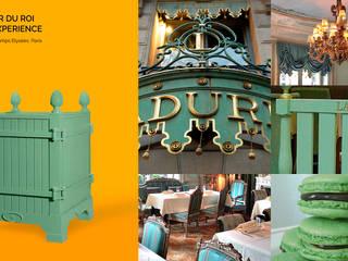 Jardinier du Roi, Green Laduree planter box inspired by Laduree colors, Paris France:   by Jardinier du Roi