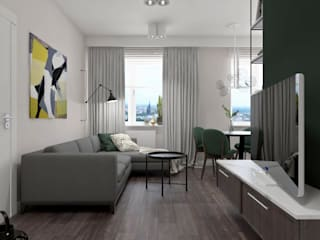 Modern living room by SO INTERIORS ARCHITEKTURA WNĘTRZ Modern