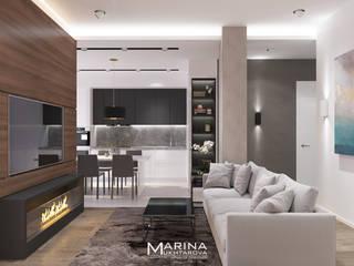Квартира 92 кв.м Гостиная в стиле минимализм от Архитектор-дизайнер Марина Мухтарова Минимализм