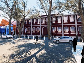 Mercado de Productores de Mendoza Galerías y espacios comerciales de estilo industrial de Sinapsis Estudio Industrial