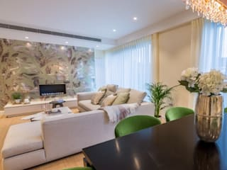 Apartment redesign and refurbishment Ruang Keluarga Modern Oleh Hampstead Design Hub Modern
