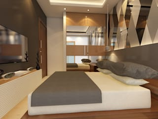 Bihani Residence and Interiors Modern style bedroom by Studio Rhomboid Modern