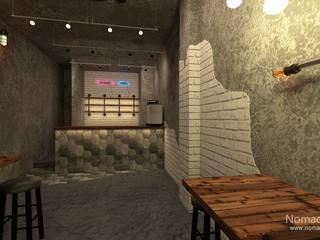 부산 인더스트리얼 카페 인테리어 - 노마드디자인: 노마드디자인 / Nomad design의