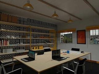 Escritório MPA: Espaços comerciais  por Marcelo Pestana Arquitetura,Moderno