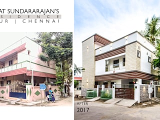 Venkat Sundararajan's Residence - Before & After:   by Studio Madras Architects