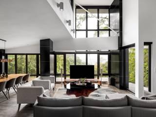 鈊楹室內裝修設計股份有限公司 Ruang Keluarga Modern