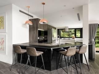 與大自然對話的智能家居 鈊楹室內裝修設計股份有限公司 現代廚房設計點子、靈感&圖片