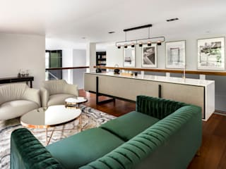 與大自然對話的智能家居 现代客厅設計點子、靈感 & 圖片 根據 昕益有限公司 現代風