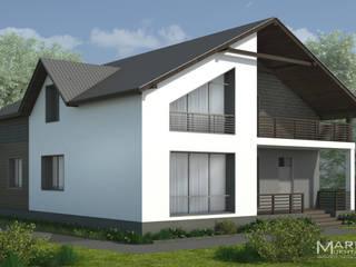 Проект жилого дома S=180 кв.м. от Архитектор-дизайнер Марина Мухтарова Минимализм