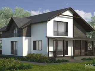 Фасад: Дома с террасами в . Автор – Архитектор-дизайнер Марина Мухтарова