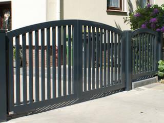 Nordzaun Jardines en la fachada Aluminio/Cinc Gris